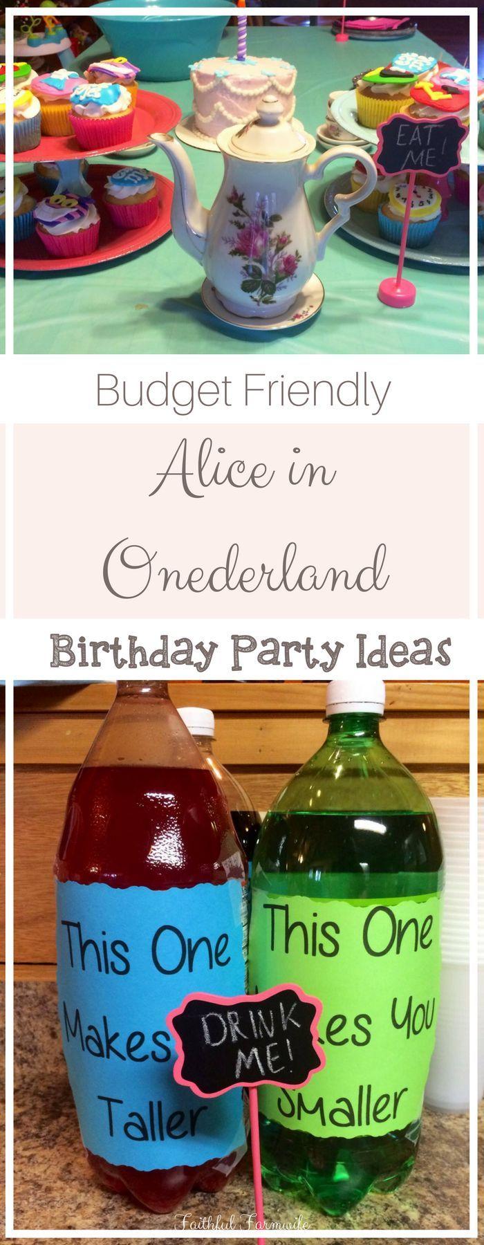 Alice in ONEderland Birthday Party | Faithful Farmwife