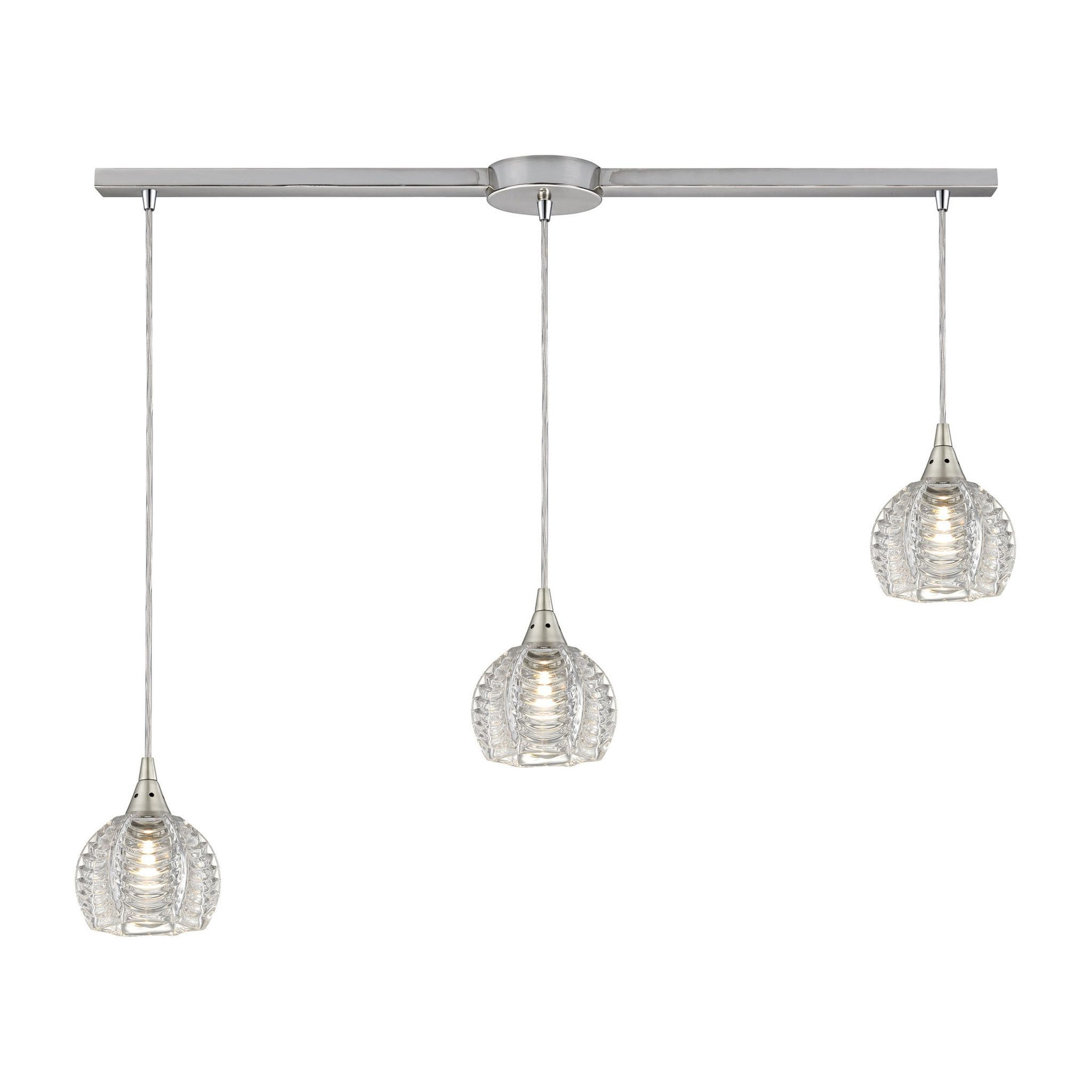 ELK Lighting 3L Kersey Collection Satin Nickel Finish