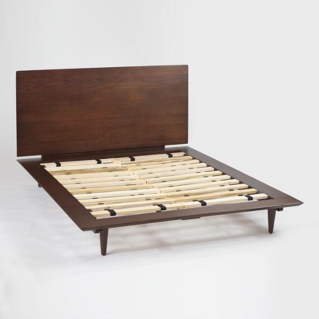 Walnut Brown Wood Barrett Queen Bed - v4   Home Ideas (Long Term ...