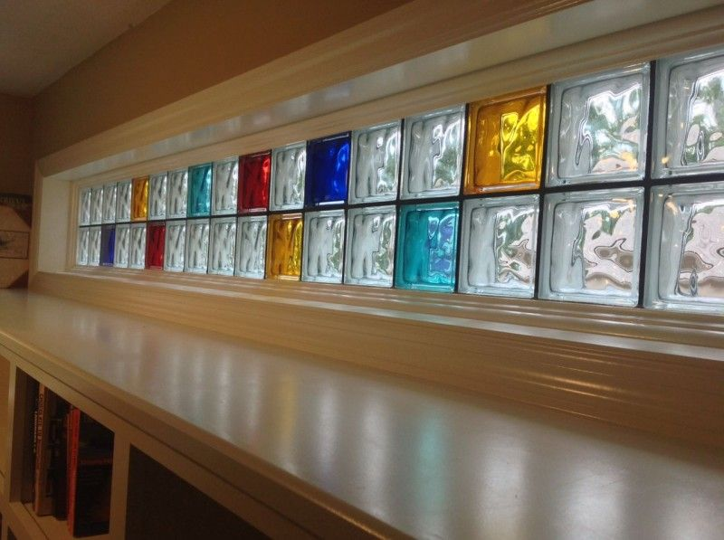 Piet Mondrian Modern Colored Glass Block Window