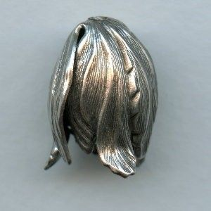 Dramatic Leaves Bead Caps Oxidized Silver