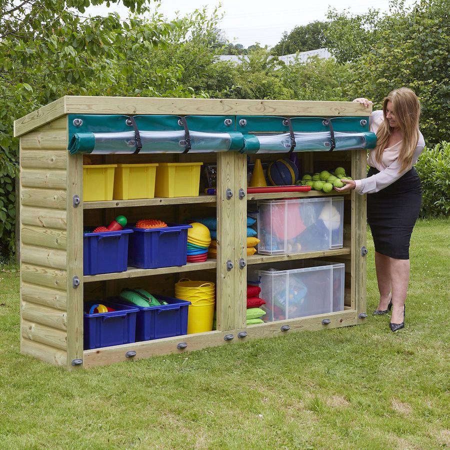 Outdoor Wooden Storage Units