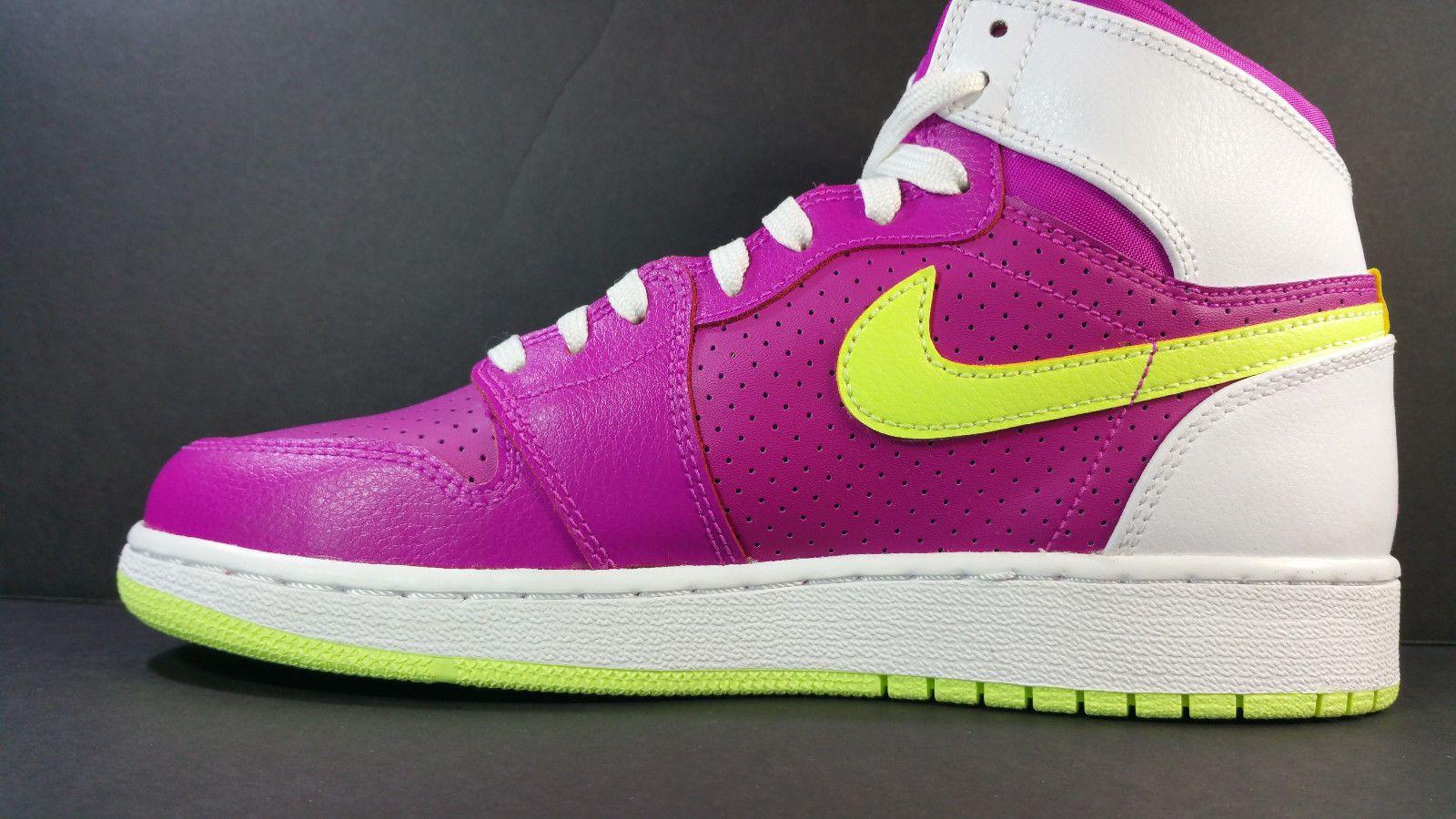 newest 7697d 5c766 Nike Air Jordan 1 Retro High GS Fuchsia Flash Liquid 332148 509  195.00