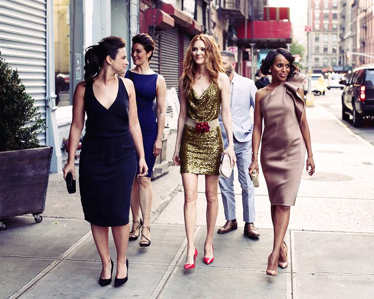 Scandal Cast looking like a 2013 Sex and the City.