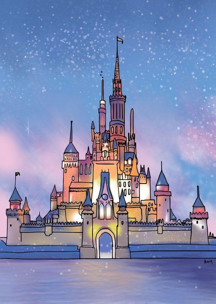 Photo of Disney Castle von ~ Art4AmySam auf deviantART # art4amysam #castle #deviantart #d …