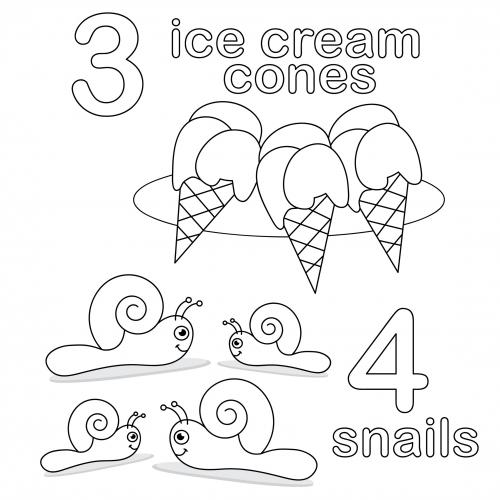 Count And Color Worksheet 3 4 Kidspressmagazine Com Coloring Worksheets For Kindergarten Preschool Coloring Pages Numbers For Kids
