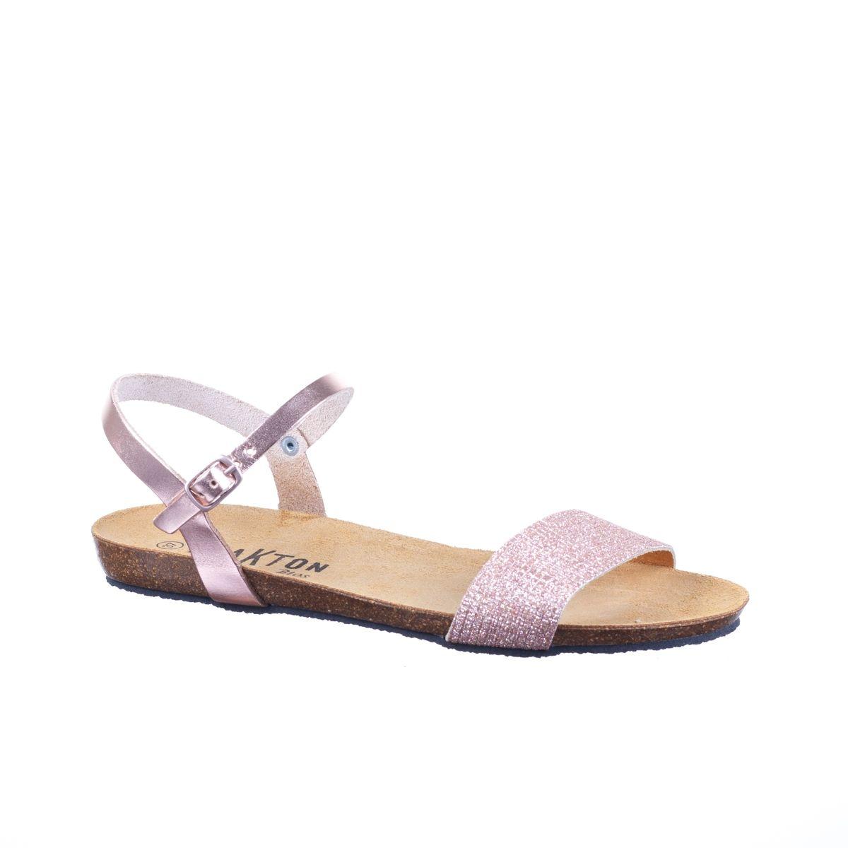 Minka Design Sandales compensées, Kamina en cuir écru