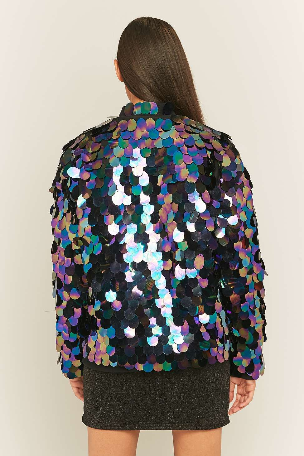 28a7c415 Sparkle & Fade Silver Sequin Bomber Jacket Silhouettes Féminines, Sequin  Jacket, Sequin Dress