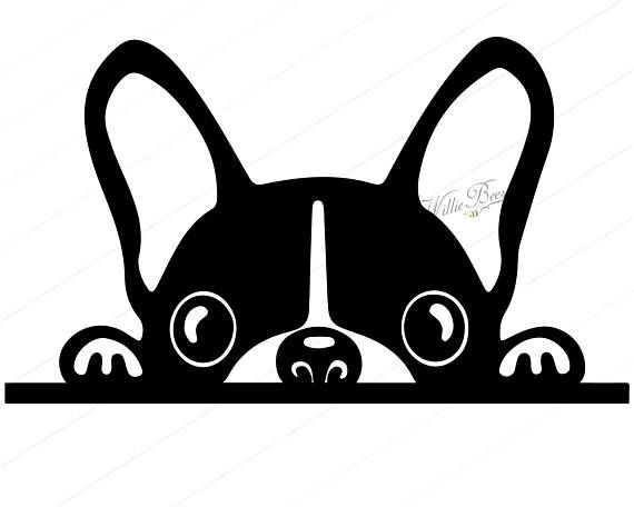 Peeking Dog Svg Silhouette Clipart Canine Clipart Image Light Switch Decal Family Pet Dog Clipart Commercial Use Digital Download Bulldog Peeking Cat Art