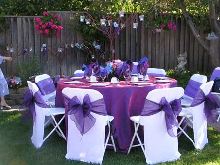 Backyard Quince I M Not A Big Fan Of Covered Chairs And Bows
