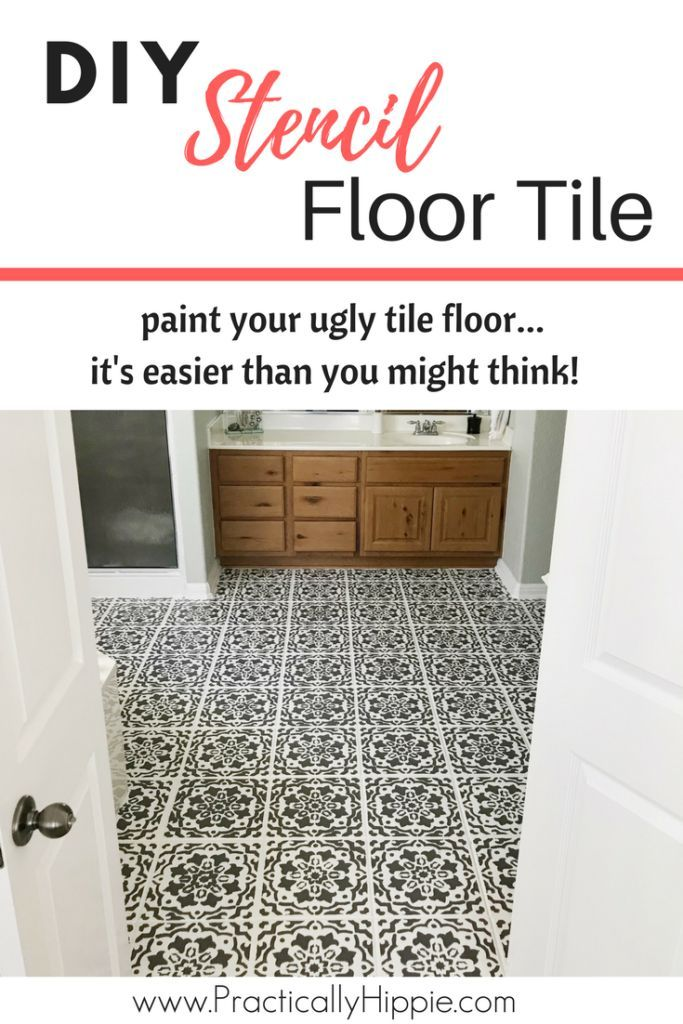 How I Painted My Ugly Tile Floor With Stunning Results Diy Home