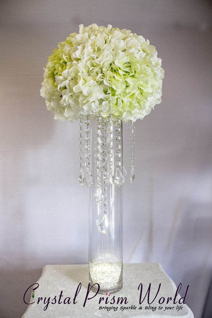 How To Make A Wedding Centerpiece Using Crystals Chain