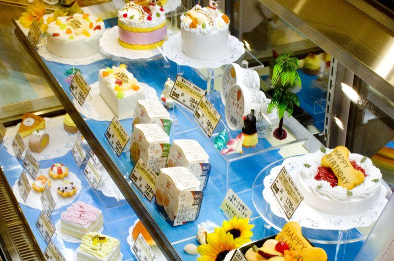 Cake display for dogs, at Aeon Mall Makuhari, Pet Mall