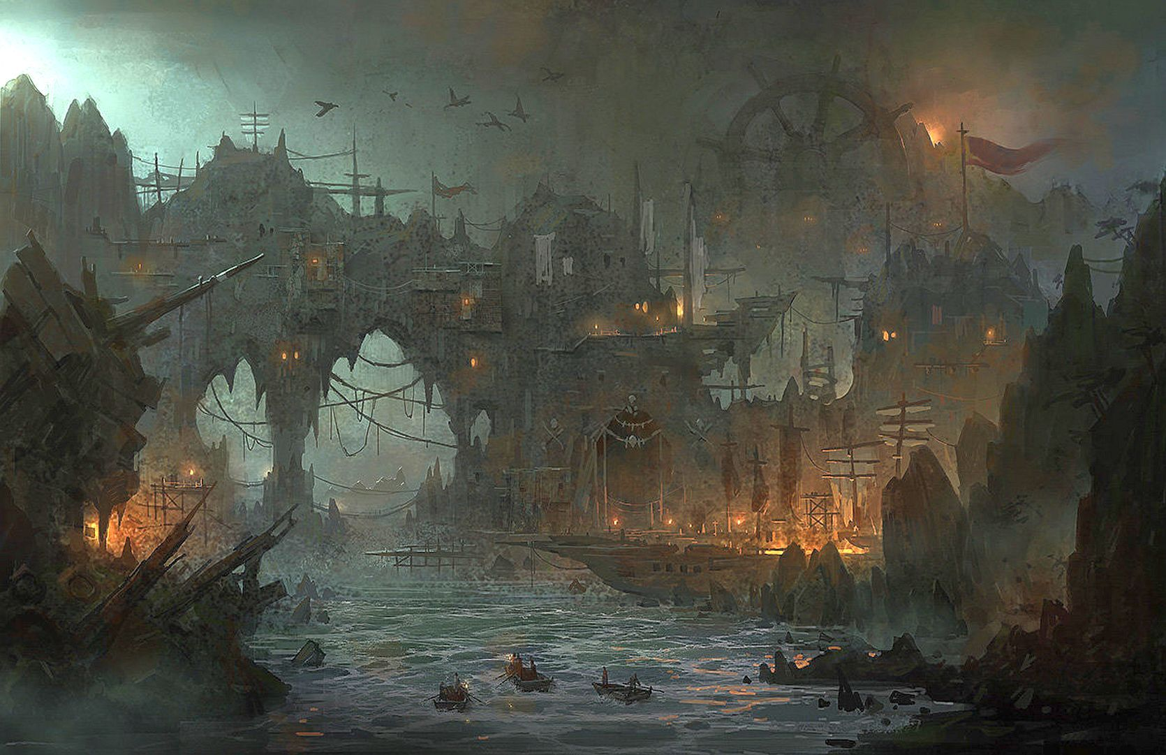 Pirate's town........ BY: Lee b............ Click on image to enlarge.....