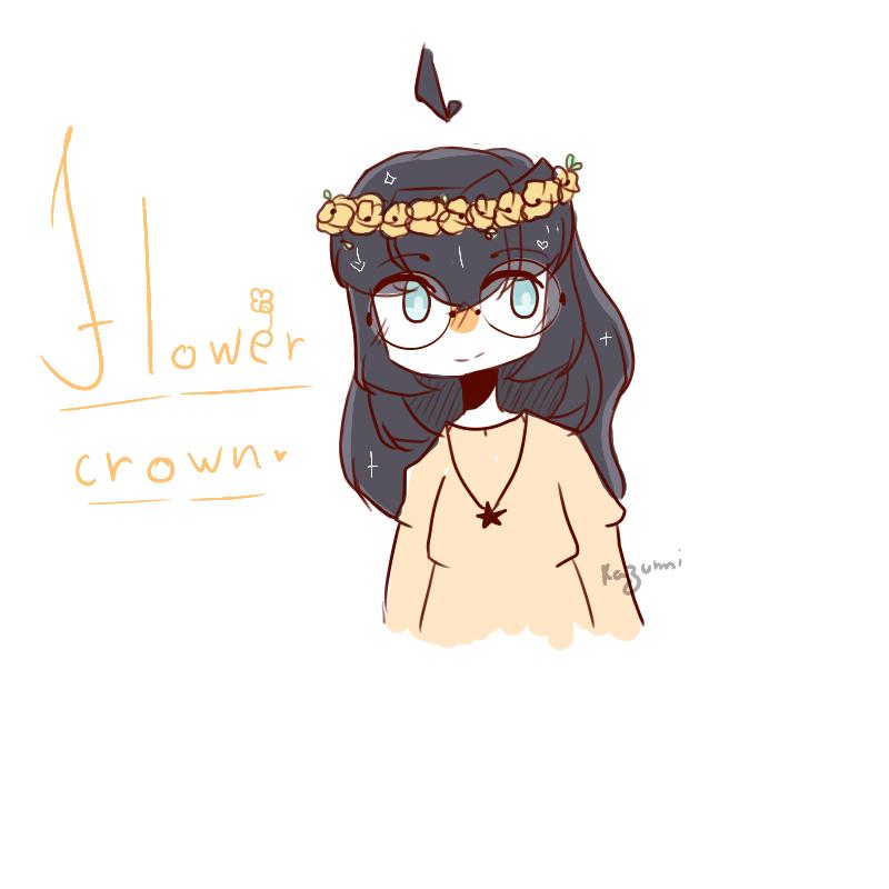 Simple Flower Crown Drawing Easy