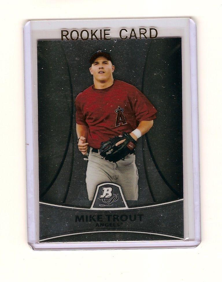 2010 bowman platinum pp5 mike trout rookie mike trout