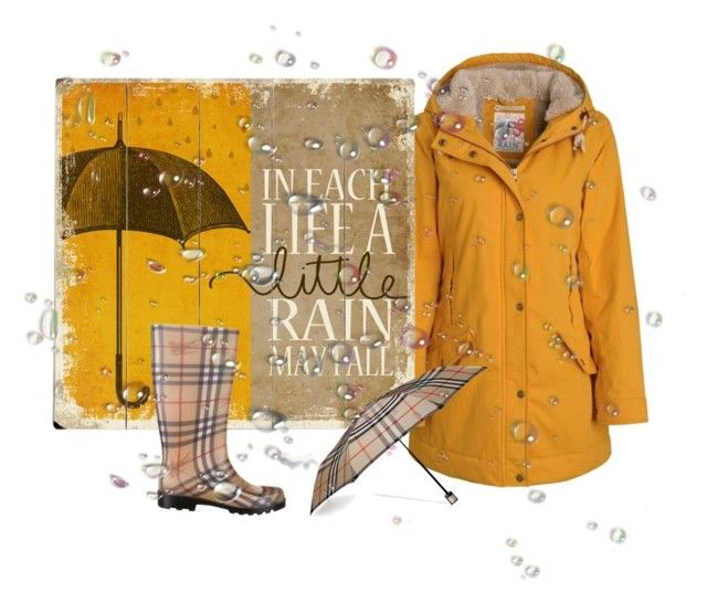 """""""Baby, The Rain Must Fall"""" by katleenm ❤ liked on Polyvore featuring Burberry, women's clothing, women, female, woman, misses and juniors"""