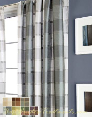 Envoy Plaid Semi Custom Curtainsthese Might Work For The Bathroom Application Ready Made 9 Foot Drapes With Lining Optional