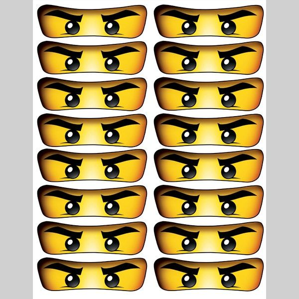 picture regarding Ninjago Eyes Printable referred to as Totally free Printable Ninjago Eyes Nickys 4th birthday social gathering within just