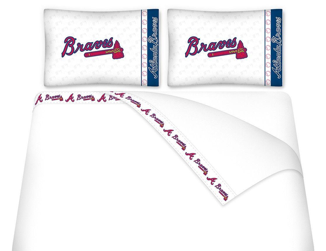 Atlanta Braves Mlb Twin Full Queen Bed Sheet Set Atlanta Braves Braves Atlanta Braves Jersey
