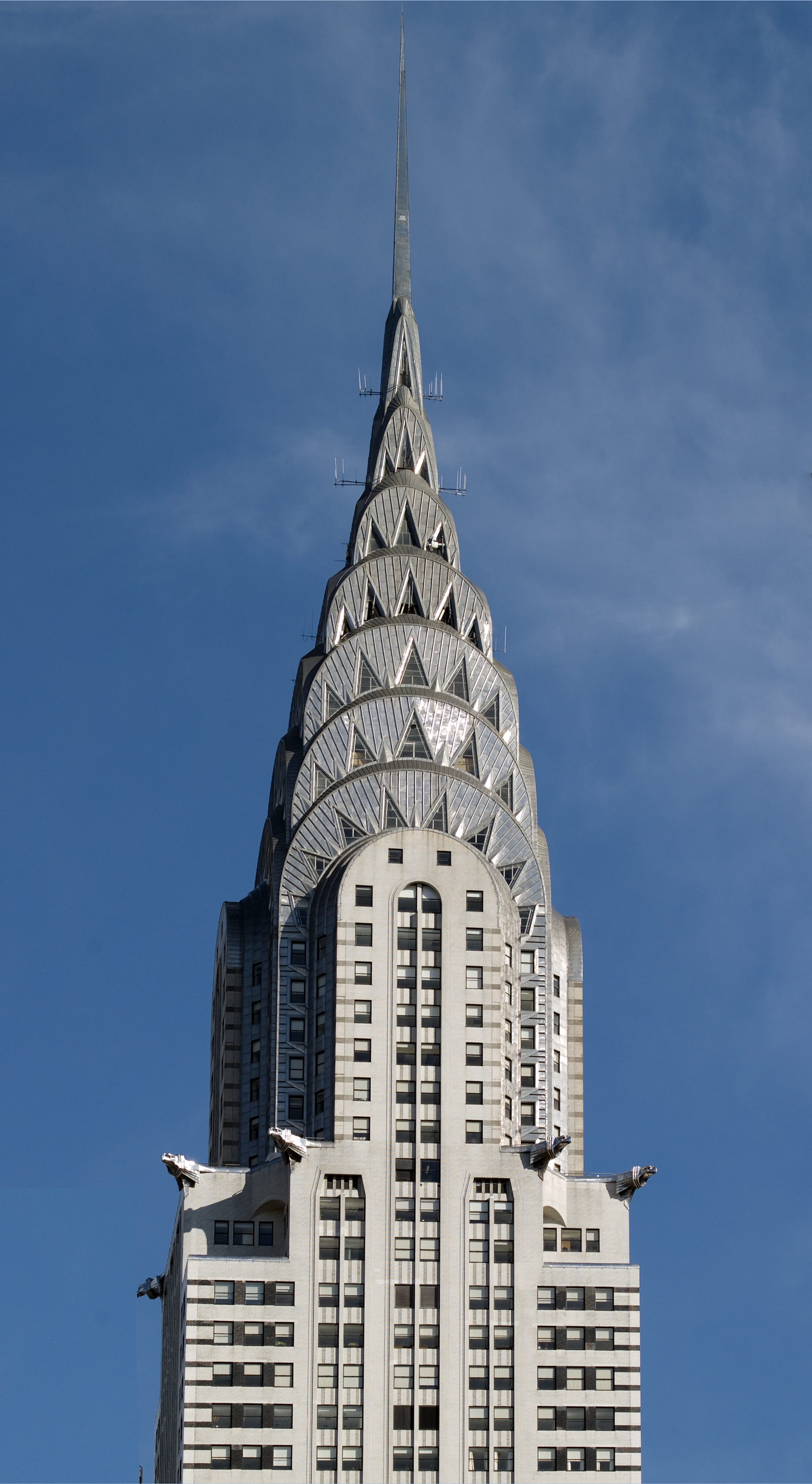 the art deco spire of the chrysler building in new york city new york city
