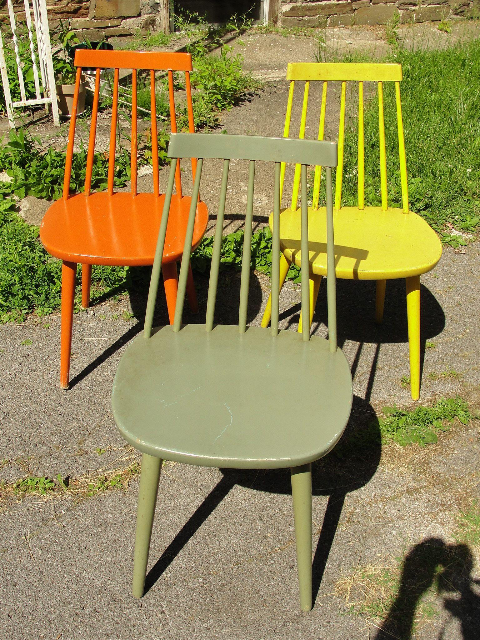 3 Mid Century Modern Danish Modern Side Chairs Sibbo Yngve Ekstrom