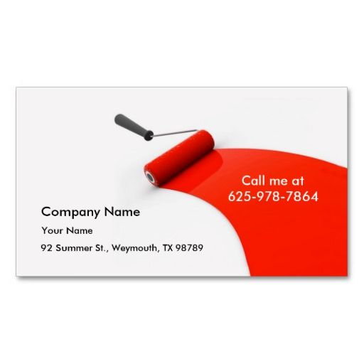 Painting business card painter business cards pinterest painting business card flashek Choice Image