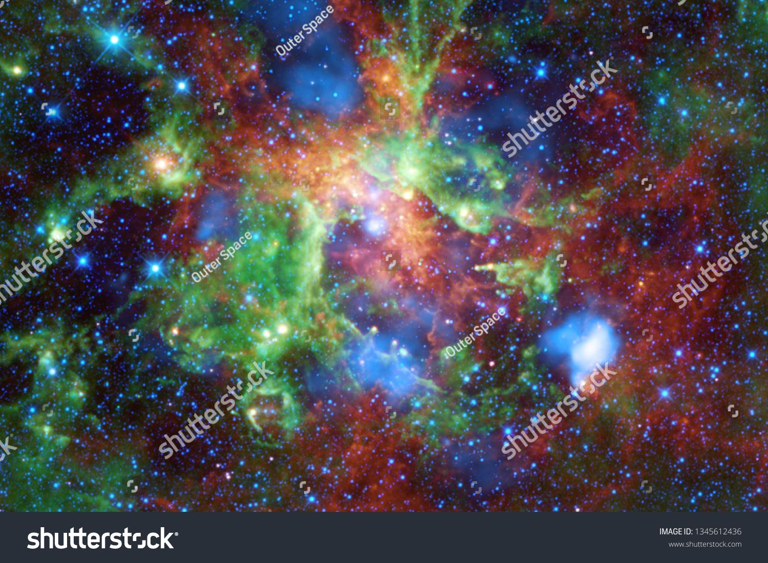 Beautiful nebula starfield cluster of stars in outer space Science fiction art Elements of this image furnished by NASA