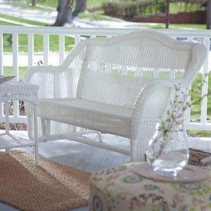 Coral Coast Casco Bay Resin Wicker Outdoor Glider Loveseat Walmart Com Patio Furniture Pillows Patio Furniture Sets Outdoor Glider