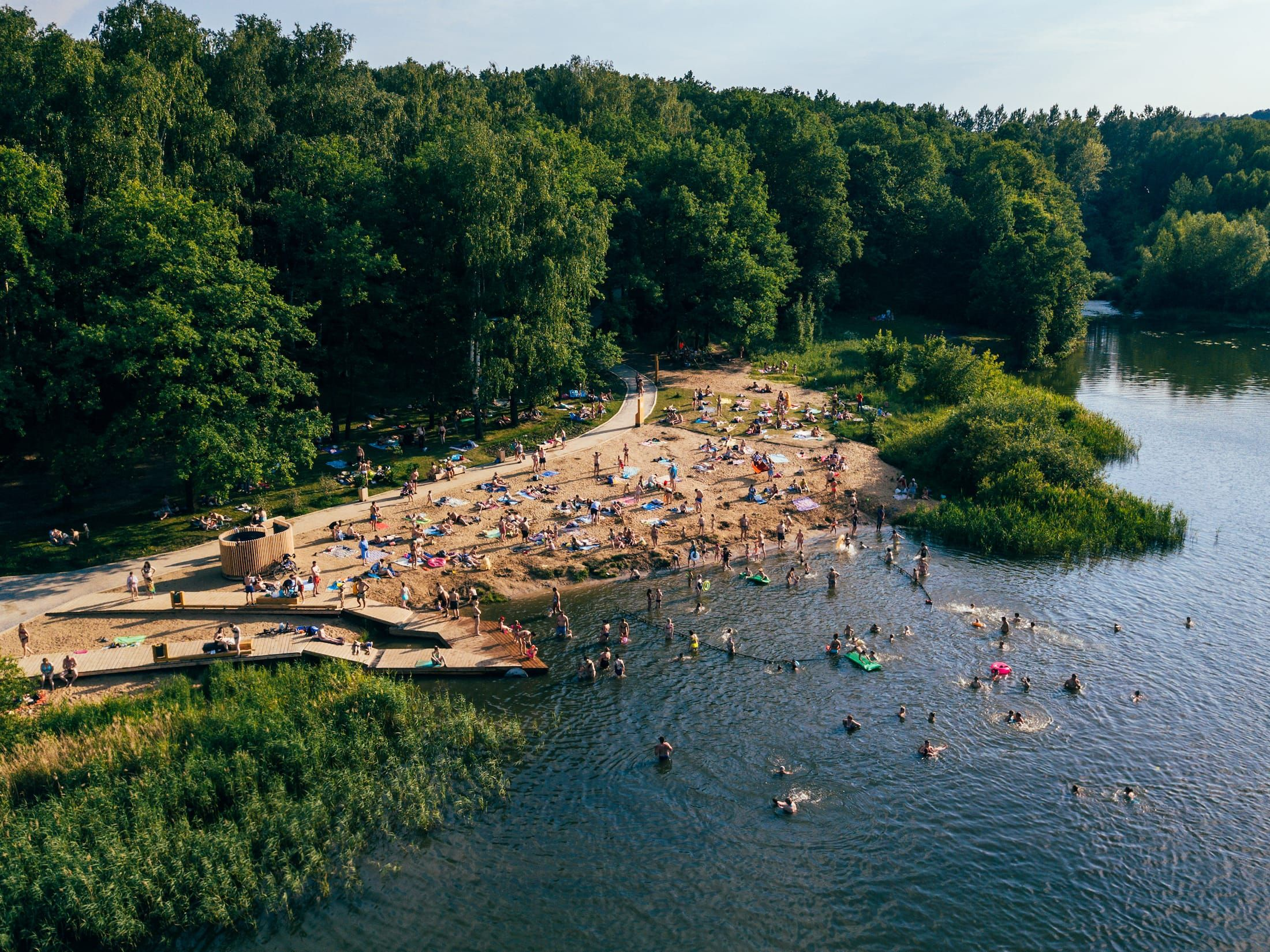 俄罗斯下诺夫哥罗德 森林公园湖滨景观 Ogorod Forest Park Park Forest