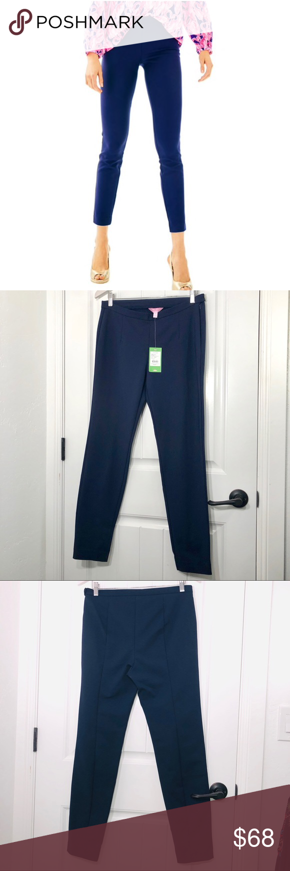 Lilly Pulitzer Midnight Navy Blue Alessia Stretch Dinner Pants Pick Size