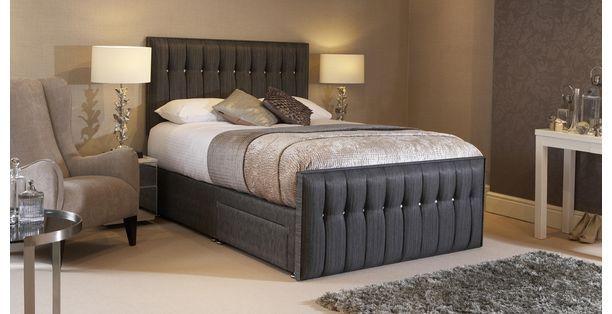 Glitz Super King Ft Ottoman Bed Glitz DFS Bedroom - Dfs bedroom furniture sets