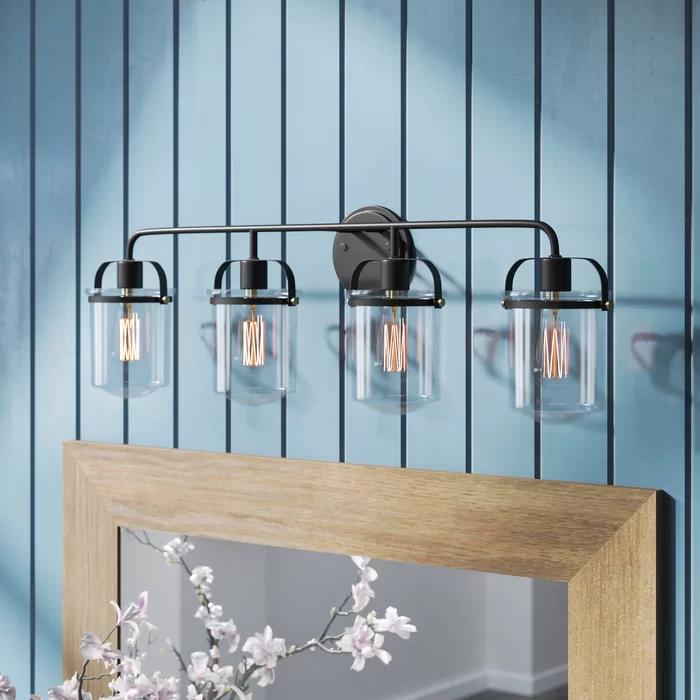 Portland 4 Light Dimmable Oil Rubbed Bronze Bath Bar In 2020 Vanity Lighting Bathroom Vanity Lighting Light Fixtures