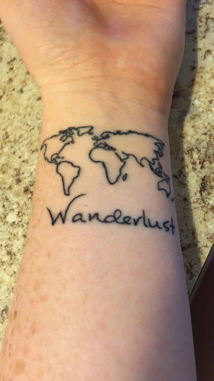 World mapwanderlust tattoo want pinterest tattoo map world mapwanderlust tattoo gumiabroncs Gallery