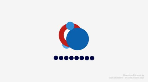 A progressive study on brand & logo simplification called Unevolved Brands by Graham Smith #Circle #Branding #Logo #Reduction #Visual Grammar #Graphic Design