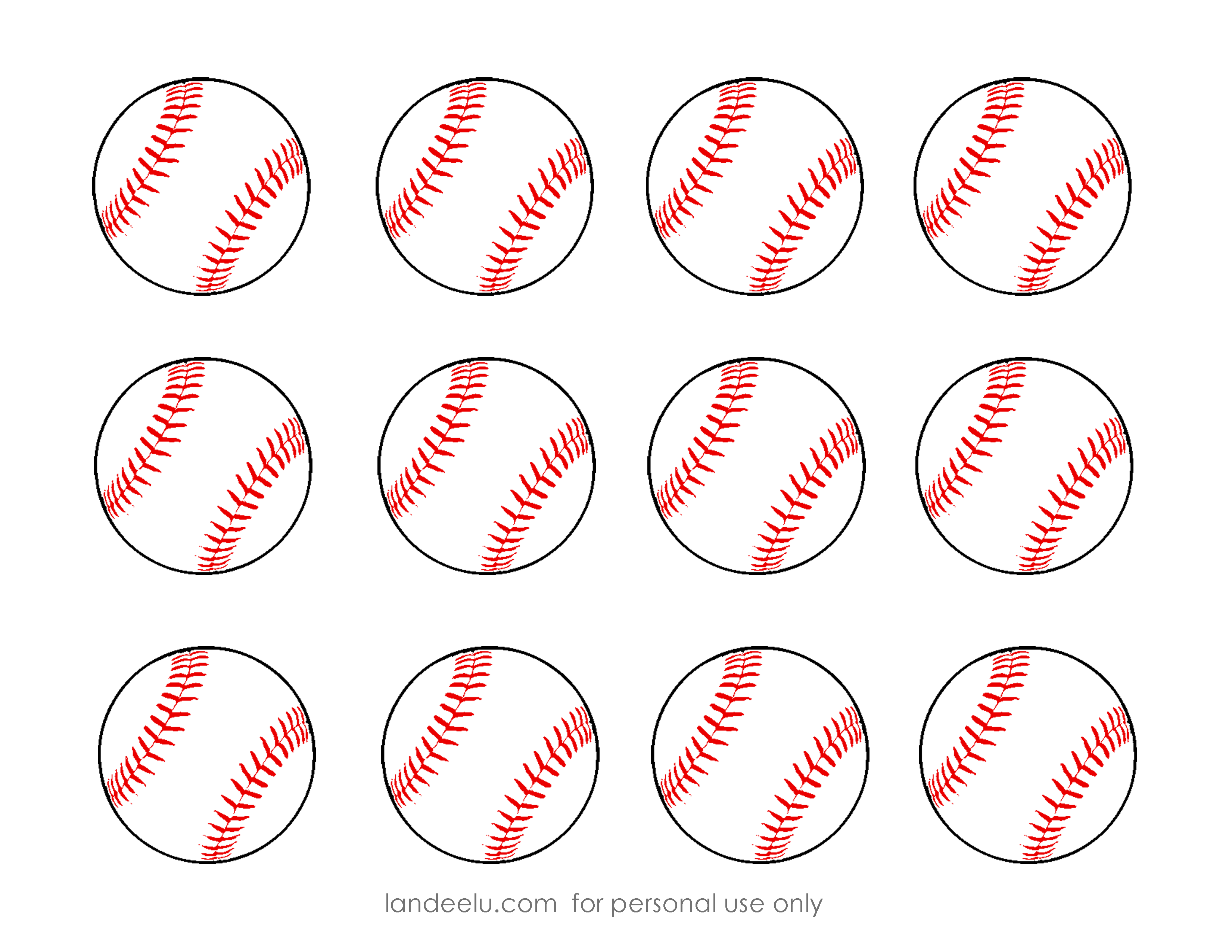 free printable baseball clip art images inch circle punch or scissors [ 3300 x 2550 Pixel ]