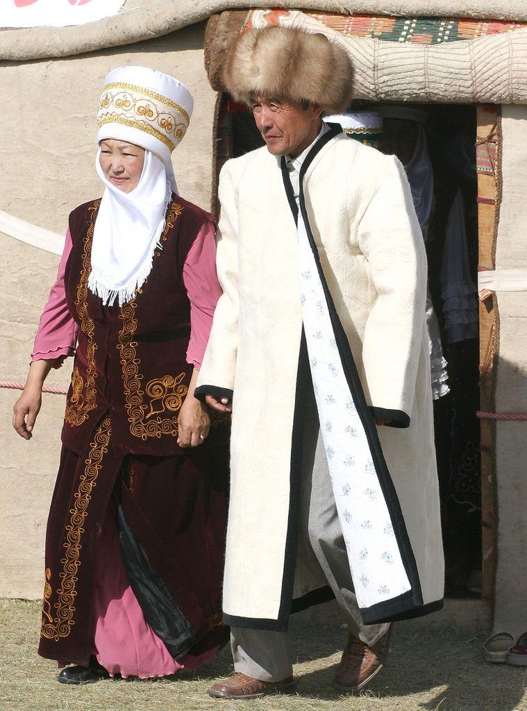 киргизская национальная одежда картинки конечно