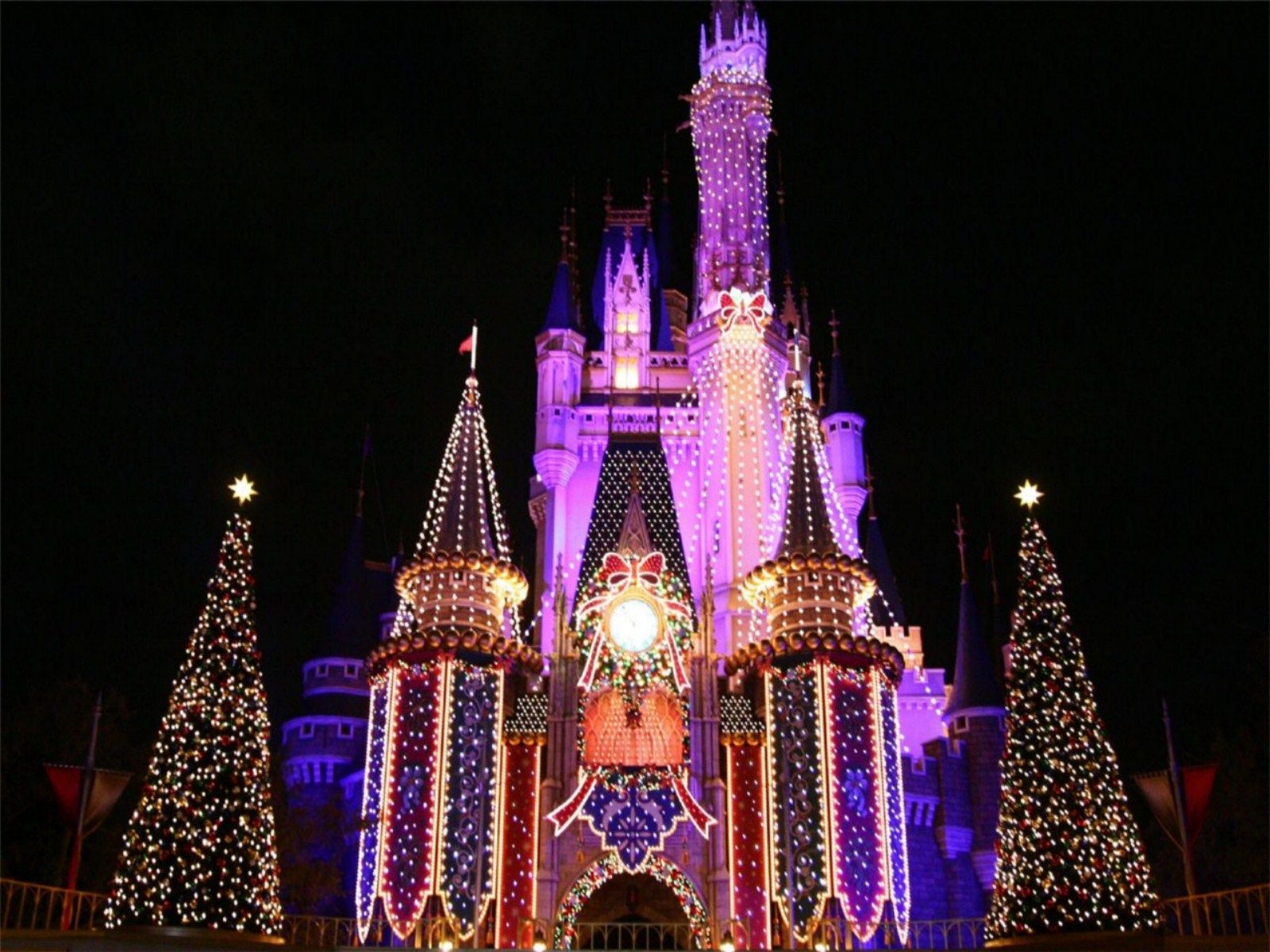 christmas lights Free Download HD Disney Castle