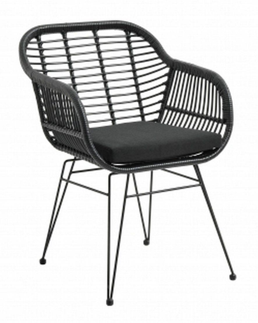 Chaise De Jardin Noire Nordal En 2020 Chaise Fauteuil Chaise Et Chaise Exterieur