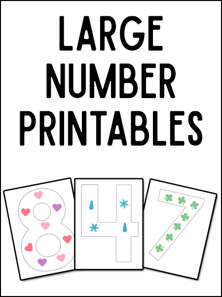 Large Numeral Printables Mini Craft Number Activities