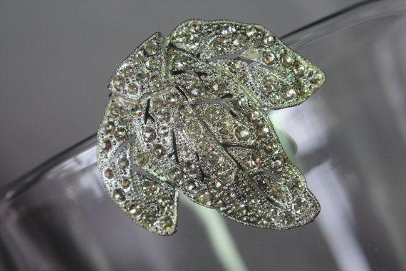 Vintage Art Deco Bridal Crystal Rhinestone by ButterflyEffectInc, $75.00