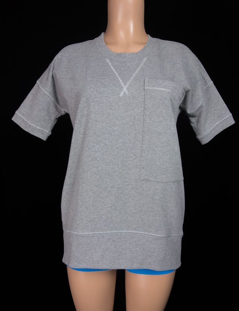 LULULEMON Pocket Sweatshirt 6 Small S Gray Pleat Back Pullover French Terry Yoga #Lululemon #ShirtsTops