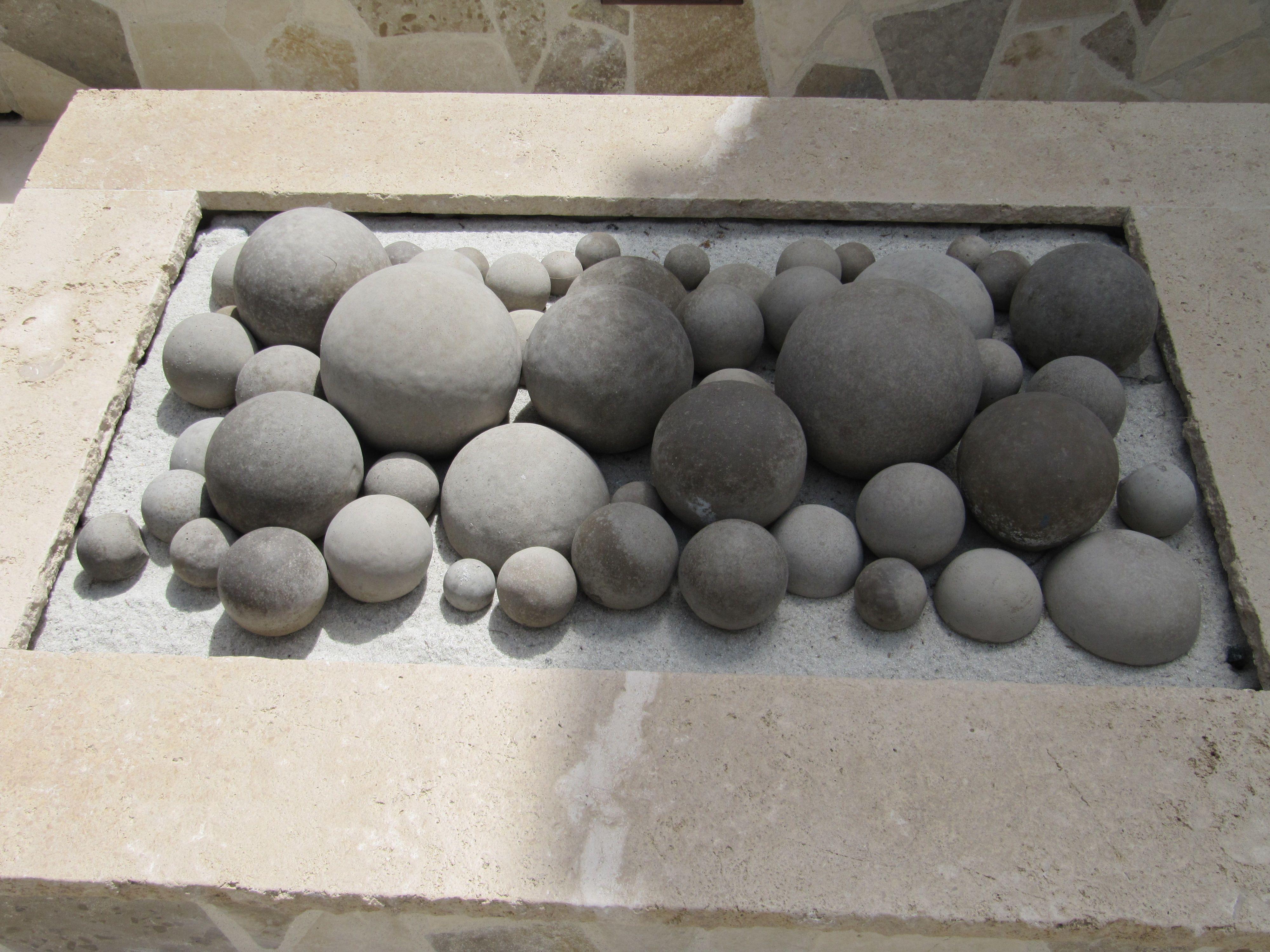 concrete fire pit balls details of dwla projects pinterest