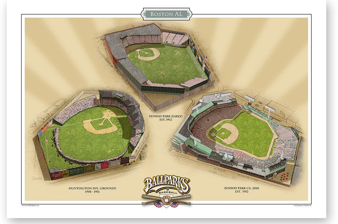 Boston AL Ballparks of Baseball | Pinterest