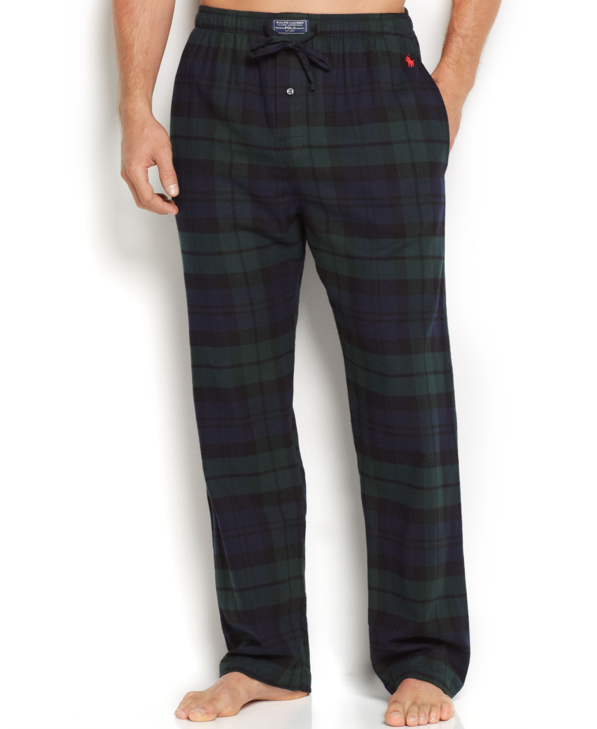 Polo Ralph Lauren Men's Plaid Flannel Pajama Pants - Pajamas, Lounge &  Sleepwear - Men - Macy's