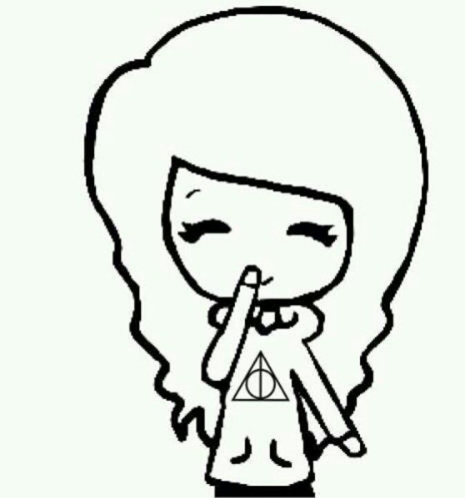 Harry Potter Chibi Is She Picking Her Nose