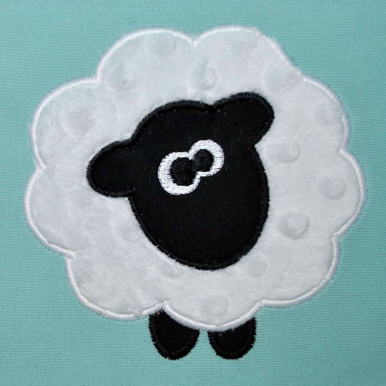 Applique Embroidery Machine Sheep Applique Design Farm Animal