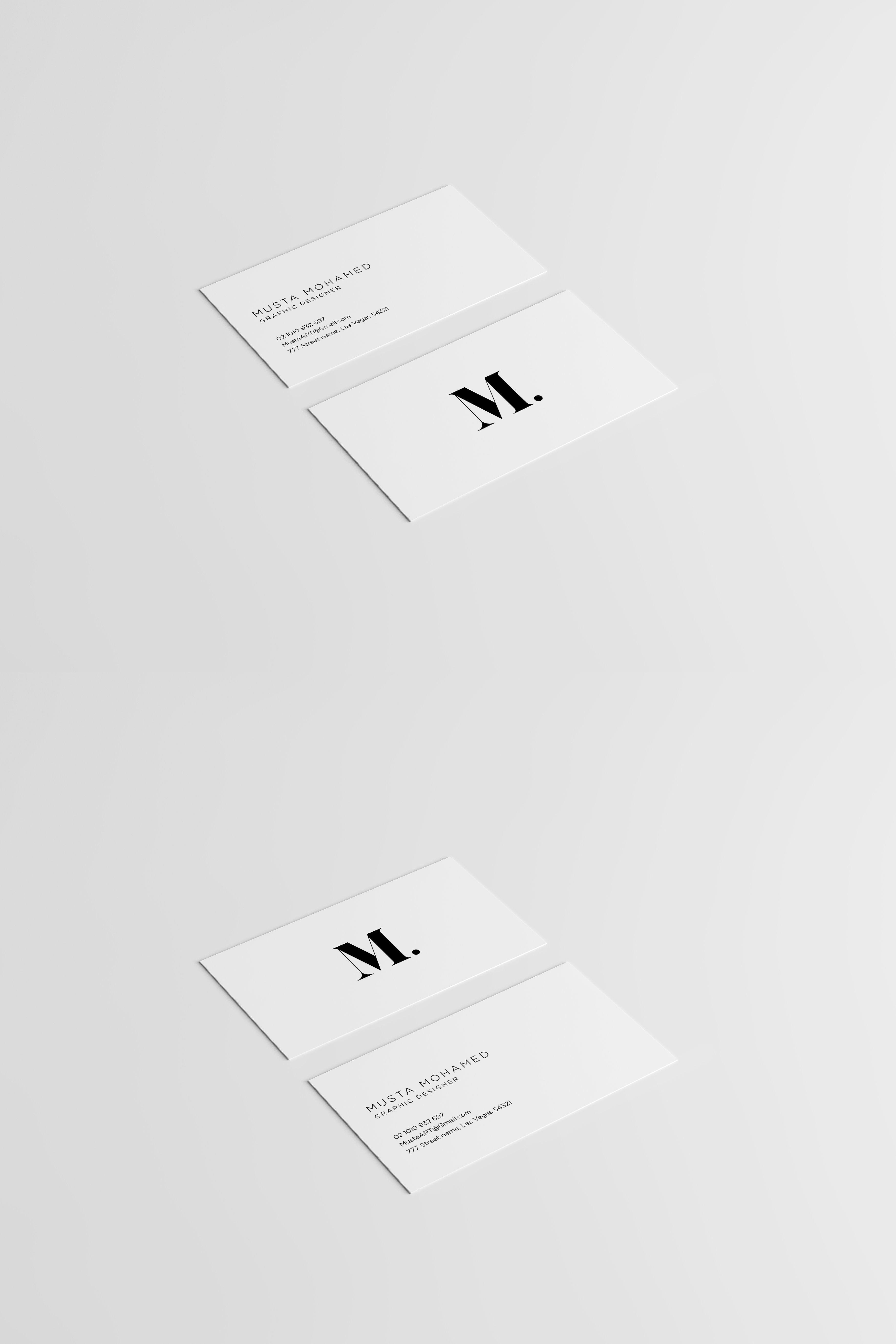 White X Black Clean Business Card