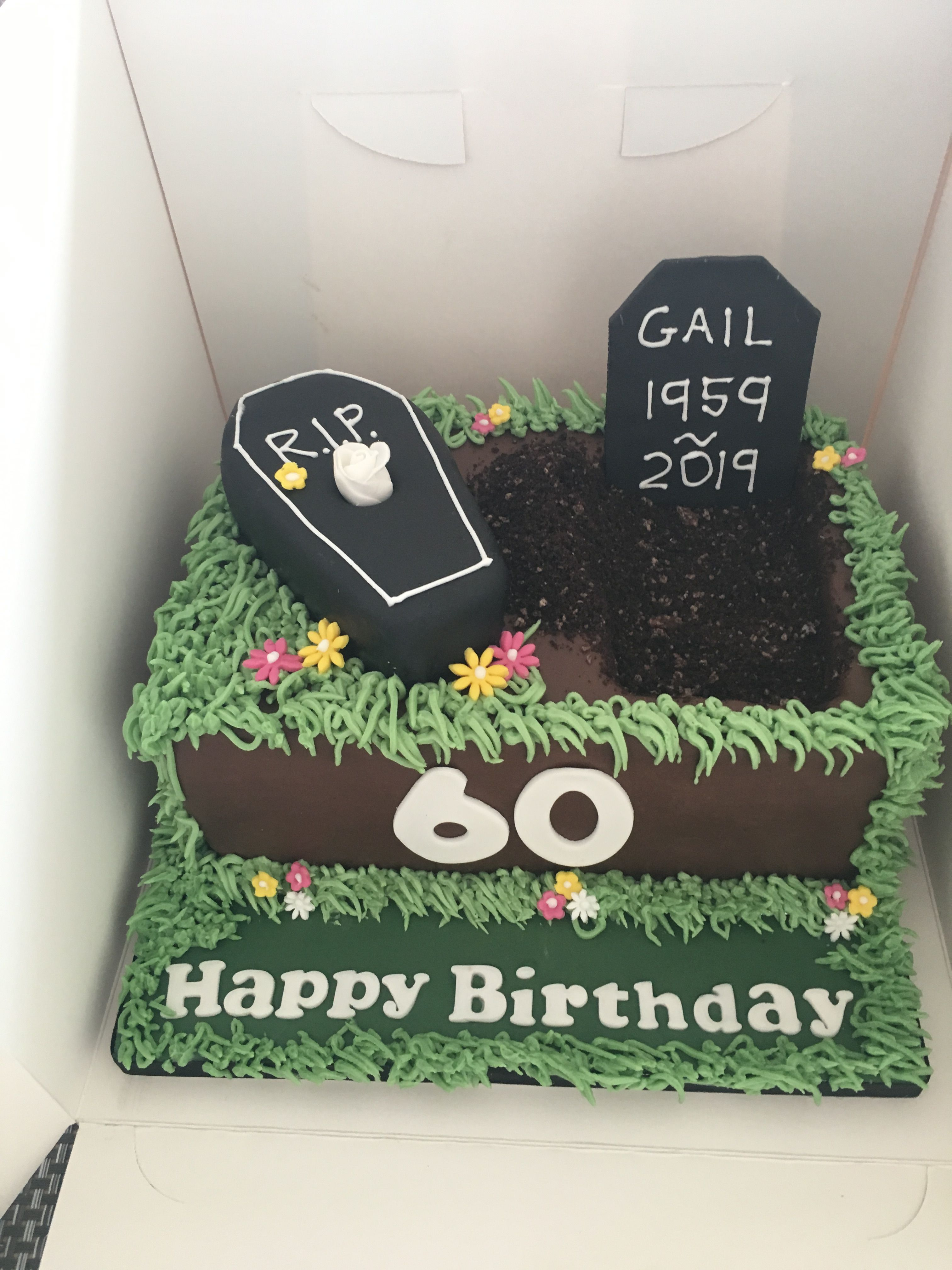 Swell Funny 60Th Birthday Cake 60Th Birthday Cakes Personalised Birthday Cards Veneteletsinfo