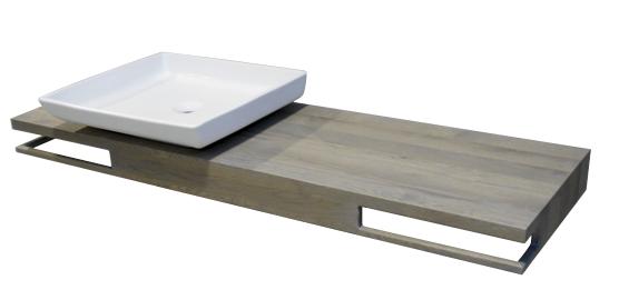 nieuw badkamermeubel | wastafel naar keuze | eiken | mooie verstekhoek | handdoekrek geintegreerd aan 1 of 2 zijden | maart 2013 | mozaiek utrecht